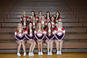 Junior Varsity Cheerleaders<br /> Front Row (L to R): Shyanna Alderson, Taylor Bailey, Melissa Trapp, Autumn Pella, Laura Stanard <br /> 2nd Row (L to R): Kailyn Bors, Kortney Borgman, Erin DeBoer, Megan Anderson<br /> 3rd Row (L to R): Madison Koehler, Nora Esquivel, Shelby Hesterberg, Ana Grant-Simmons, Maddie Rosecrans