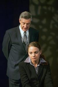 Mark Abels as Glover and Elizabeth Graveman as Mills