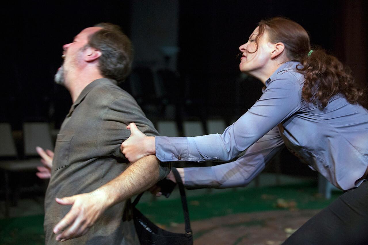 B. Weller as Nye and Elizabeth Graveman as Mills