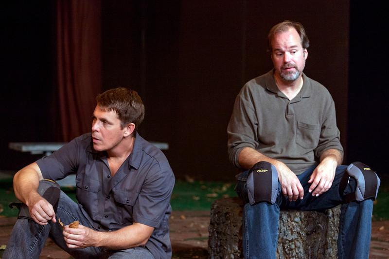 L-R: Jeff Kargus as Tuck and B. Weller as Nye