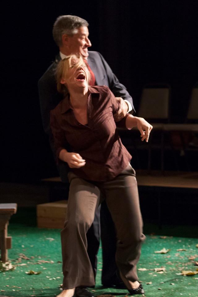 Mark Abels as Glover and Rachel Hanks as Pearl