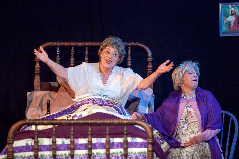 "L-R: Suzanne Greenwald as Mrs. Wilson, Liz Hopefl as Cissy Cassidy in ""Losers"""