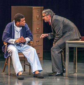 L-R: Reginald Pierre as D.J., Tom Kopp as Doctor