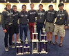 Seniors with National Co-Championship Trophy and Individual Awards: Julian Palmer '14, Ethan Arteaga '14, Alfredo Cubina '14, Carlos Barrera '14, Arturo Corces '14, Harrison Nguyen '14, and Jack Kim '14
