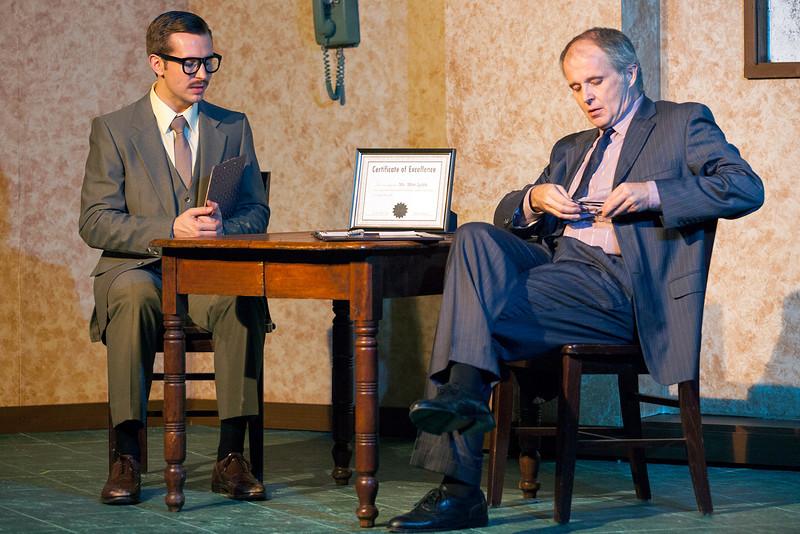 L-R: Zach Wachter as Gibbs and Matt Hanify as Lobb