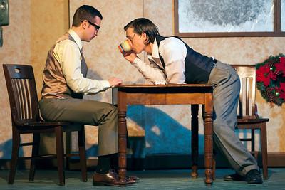 L-R: Zach Wachter as Gibbs, Roger Erb as Lush