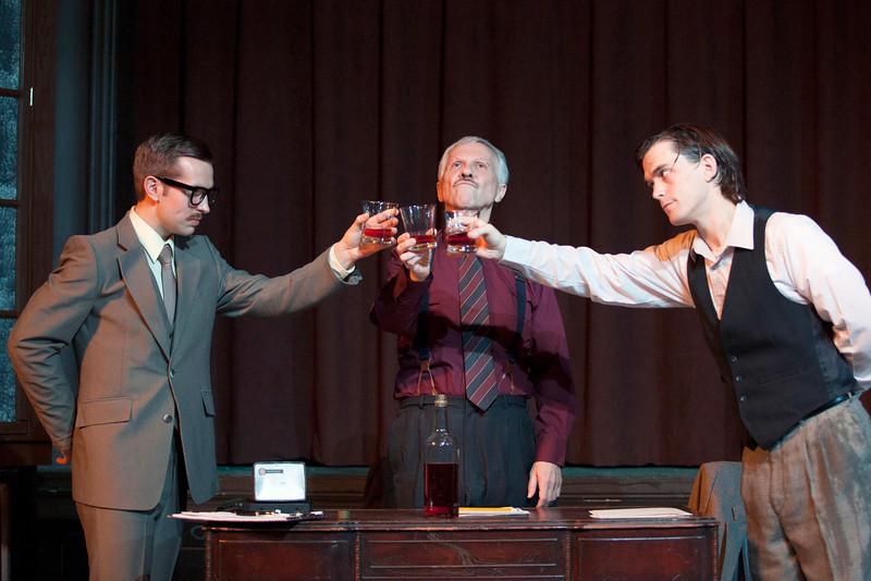 L-R: Zach Wachter as Gibbs, Robert Ashton as Roote, Roger Erb as Lush