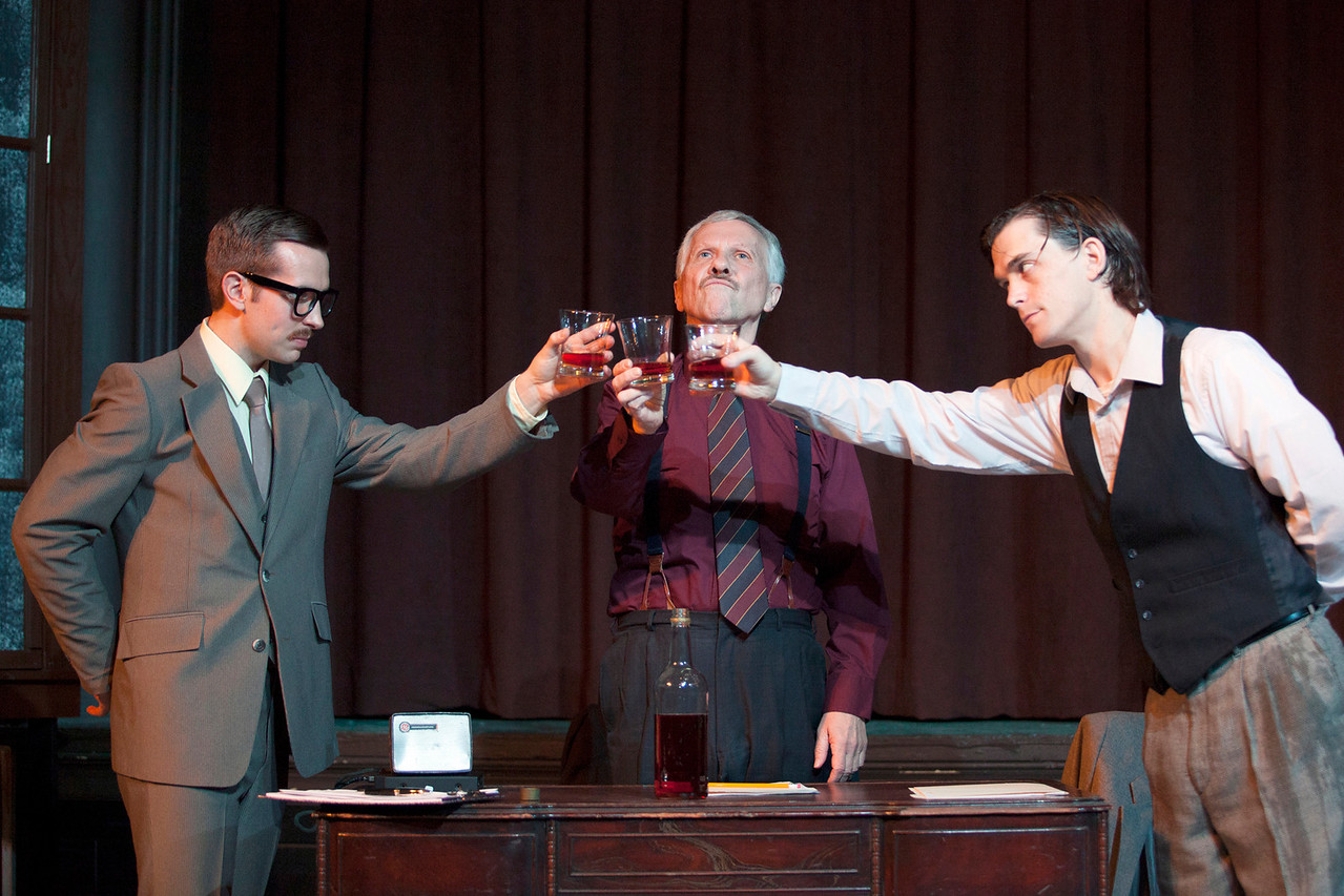 L-R: Zach Wachter as Gibbs, Robert Ashton as Roote, Roger Erb as Lush