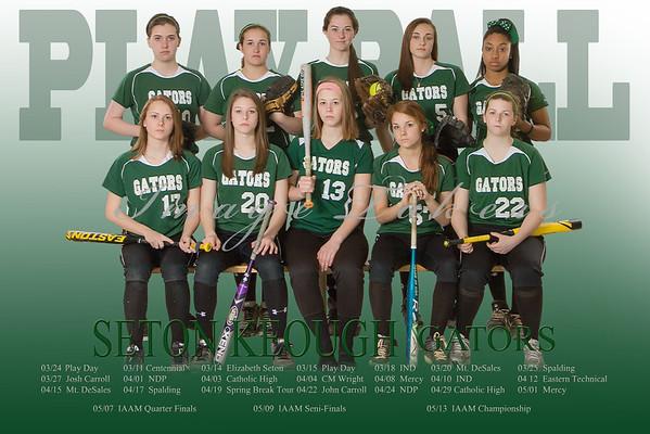 2013-2014 Varsity Softball Players