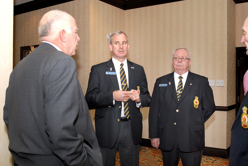 Wayne Foster, ACLC National President.   Brad White, & Mr. Moore, Royal Canadian Legion (Légion Royale Canadienne)