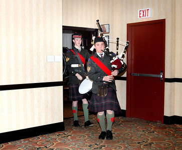 Entrance of the #57 Stormont, Dundas and Glengarry Highland Cadet Corps, Hawkesbury, Ontario Pipes and Drums