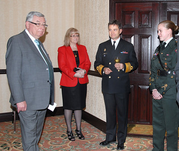 T. Whitty, Sandra Clarke, past VCDS, VAdm, Donaldson and Julie LeBlanc