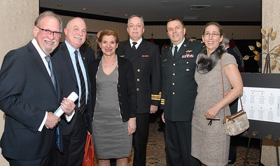Gilles Dery, Mrs/Mme Dery, LCmdr R. Vaillancourt, Col Albert and his spouse (avec son épouse)