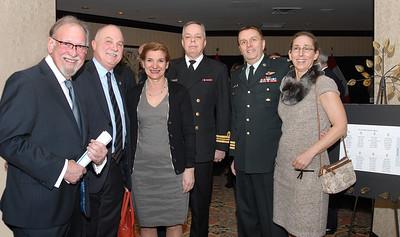 Gilles Dery, Mrs/Mme Dery, LCmdr R. Vaillancourt, Col Albert and his spouse (avec son épouse)