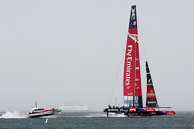 2013 America's Cup, Team New Zealand, Practicing on San Francisco Bay, California