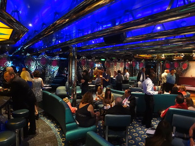 the Blue Bar hosted the AAA-CPA events onboard Carnival Glory.