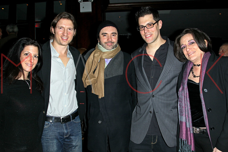 New York, NY - February 05: Stacey Prussman, Charles Ferri, Jeff Krauss and Dana Frank at the 1 year anniversary of Animal Aid at RSVP Lounge on Tuesday, February 5, 2013 in New York, NY.  (Photo by Steve Mack/S.D. Mack Pictures)