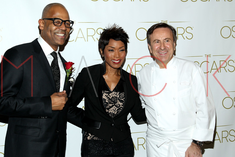 NEW YORK, NY - FEBRUARY 24:  Patrick Harrison, Angela Bassett and Chef David Bouley attend the 85th Academy Awards Official New York City Viewing Party on February 24, 2013 in New York City.  (Photo by Steve Mack/S.D. Mack Pictures)