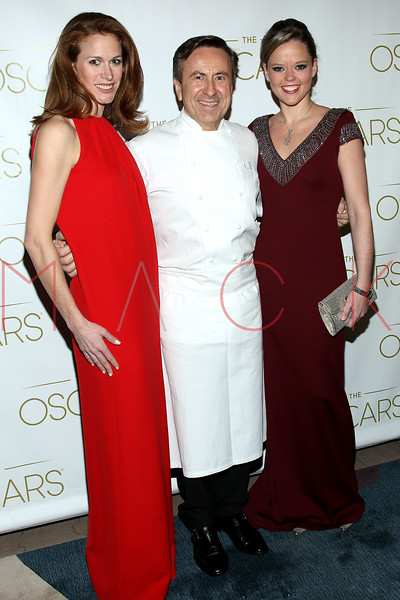 NEW YORK, NY - FEBRUARY 24:  Katerine Gage, Chef David Bouley and Lindsey Press attend the 85th Academy Awards Official New York City Viewing Party on February 24, 2013 in New York City.  (Photo by Steve Mack/S.D. Mack Pictures)