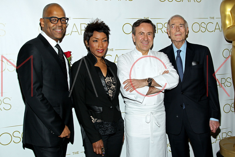 NEW YORK, NY - FEBRUARY 24:  Patrick Harrison, Angela Bassett, Chef David Bouley and Bud Rosenthal attend the 85th Academy Awards Official New York City Viewing Party on February 24, 2013 in New York City.  (Photo by Steve Mack/S.D. Mack Pictures)