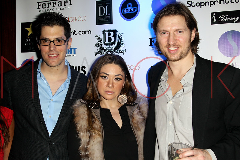 New York, NY - February 15: Jeff Krauss, Rimma Rose and Charles Ferri at Boss Models and Ferrari of Long Island end of Fashion Week Event hosted by George Wayne of Vanity Fair at The DL Rooftop on Friday, February 15, 2013 in New York, NY.  (Photo by Steve Mack/S.D. Mack Pictures)