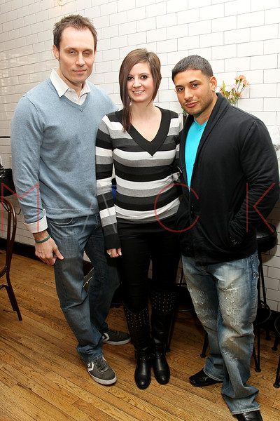 """New York, NY - February 25: Keith Collins, Anastasia Smith and Emilio Masella at """"Gravedigger""""  Movie filming on location at Whitmans Restaurant on Monday, February 25, 2013 in New York, NY.  (Photo by Steve Mack/S.D. Mack Pictures)"""