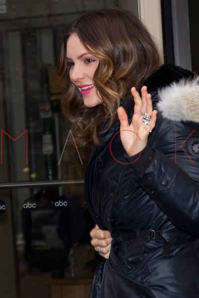 New York, NY - February 05: Katharine McPhee at Live with Kelly and Michael at Live with Kelly and Michael on Tuesday, February 5, 2013 in New York, NY.  (Photo by Steve Mack/S.D. Mack Pictures)