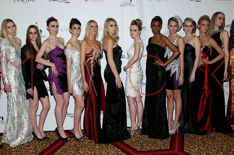 "NEW YORK, NY - FEBRUARY 16:  NY Couture Fashion Week Debuts ""Broadway Night""at New Yorker Hotel on February 16, 2013 in New York City.  (Photo by Steve Mack/S.D. Mack Pictures)"