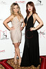 "NEW YORK, NY - FEBRUARY 16:  Ashley Arcement and Lauren Zakrin attend NY Couture Fashion Week Debuts ""Broadway Night""at New Yorker Hotel on February 16, 2013 in New York City.  (Photo by Steve Mack/Getty Images)"