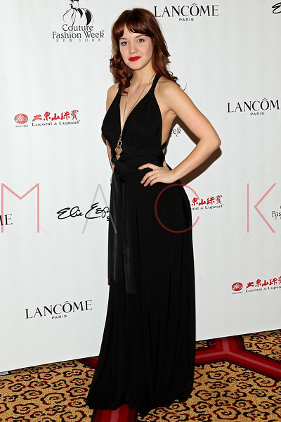 """NEW YORK, NY - FEBRUARY 16:  Lauren Zakrin attends NY Couture Fashion Week Debuts """"Broadway Night""""at New Yorker Hotel on February 16, 2013 in New York City.  (Photo by Steve Mack/Getty Images)"""
