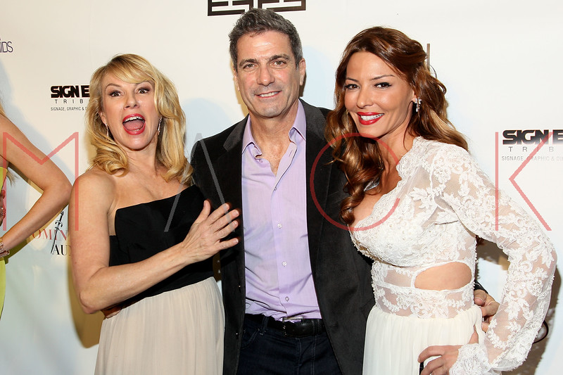 """NEW YORK, NY - FEBRUARY 09:  Ramona and Mario Singer with Drita D'Avanzo at the """"The Reality Of Fashion, The Reality Of AIDS"""" Benefit - 2013 Mercedes-Benz Fashion Show at Altman Building on February 9, 2013 in New York City.  (Photo by Steve Mack/S.D. Mack Pictures)"""