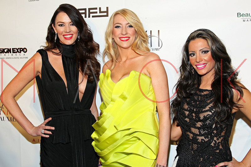 "NEW YORK, NY - FEBRUARY 09:  Brittney Brower, Nikki Rae Walker and Elizabeth Vashisht attend the ""The Reality Of Fashion, The Reality Of AIDS"" Benefit - 2013 Mercedes-Benz Fashion Show at Altman Building on February 9, 2013 in New York City.  (Photo by Steve Mack/S.D. Mack Pictures)"