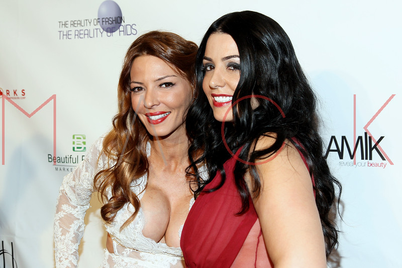 "NEW YORK, NY - FEBRUARY 09:  Drita D'Avanzo and Ramona Rizzo attend the ""The Reality Of Fashion, The Reality Of AIDS"" Benefit - 2013 Mercedes-Benz Fashion Show at Altman Building on February 9, 2013 in New York City.  (Photo by Steve Mack/S.D. Mack Pictures)"