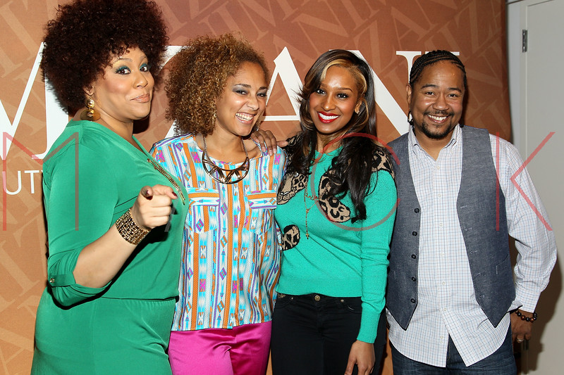 """NEW YORK, NY - FEBRUARY 26:  Kim Coles, Amanda Seales, Olivia and Abyss attend """"The Spoken Word"""" Hosted By Kim Coles at L'Oreal Soho Academy on February 26, 2013 in New York City.  (Photo by Steve Mack/S.D. Mack Pictures)"""