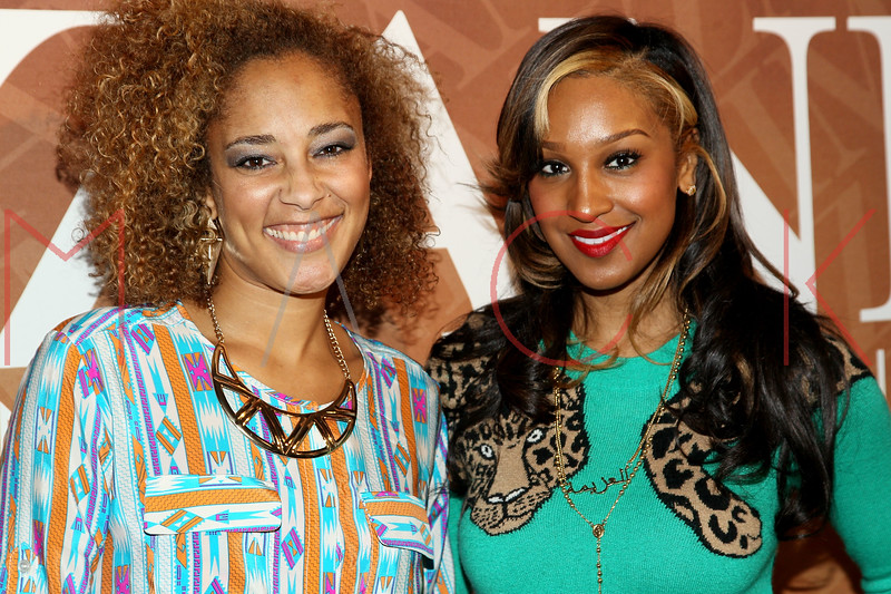 "NEW YORK, NY - FEBRUARY 26:  Amanda Seales and Olivia attend ""The Spoken Word"" Hosted By Kim Coles at L'Oreal Soho Academy on February 26, 2013 in New York City.  (Photo by Steve Mack/S.D. Mack Pictures)"