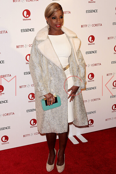 "NEW YORK, NY - JANUARY 28:  Mary J. Blige attends the ""Betty & Coretta"" premiere at Tribeca Cinemas on January 28, 2013 in New York City.  (Photo by Steve Mack/S.D. Mack Pictures)"