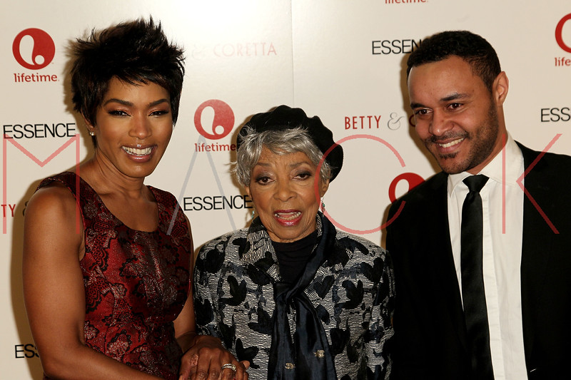 "NEW YORK, NY - JANUARY 28:  Angela Bassett, Ruby Dee and Lindsay Owen Pierre attend the ""Betty & Coretta"" premiere at Tribeca Cinemas on January 28, 2013 in New York City.  (Photo by Steve Mack/S.D. Mack Pictures)"
