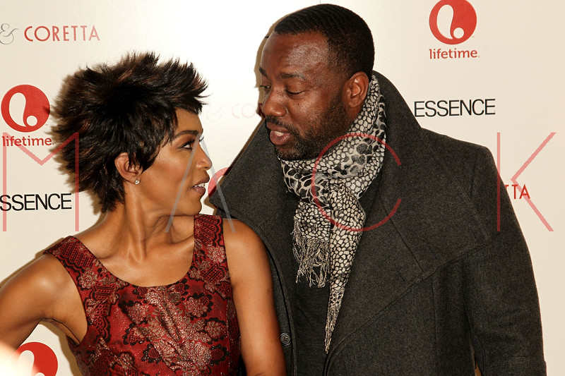 "NEW YORK, NY - JANUARY 28:  Angela Bassett and Malik Yoba attend the ""Betty & Coretta"" premiere at Tribeca Cinemas on January 28, 2013 in New York City.  (Photo by Steve Mack/S.D. Mack Pictures)"