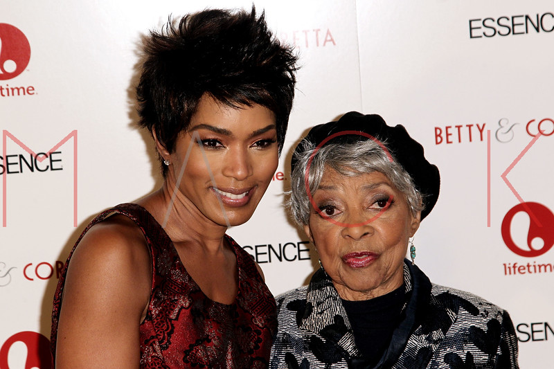 """NEW YORK, NY - JANUARY 28:  Angela Bassett and Ruby Dee attend the """"Betty & Coretta"""" premiere at Tribeca Cinemas on January 28, 2013 in New York City.  (Photo by Steve Mack/S.D. Mack Pictures)"""