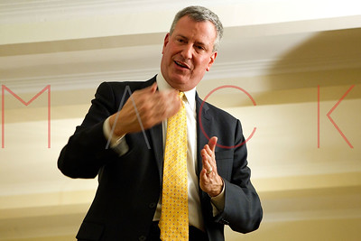 NEW YORK, NY - JANUARY 03:  Mayoral Candidate Bill De Blasio fundraiser on January 3, 2013 in New York City.