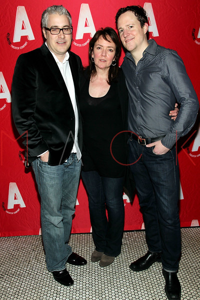 """NEW YORK, NY - JANUARY 22:  Rolin Jones, Jackson Gay and Patch Darragh attend the """"The Jammer"""" Opening Night after party at Jake's Saloon on January 22, 2013 in New York City.  (Photo by Steve Mack/S.D. Mack Pictures)"""