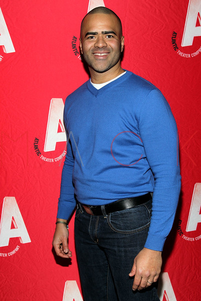 """NEW YORK, NY - JANUARY 22:  Christopher Jackson attends the """"The Jammer"""" Opening Night after party at Jake's Saloon on January 22, 2013 in New York City.  (Photo by Steve Mack/S.D. Mack Pictures)"""