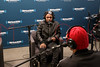"NEW YORK, NY - JANUARY 24:  DJ Steel (R) interviews Kendrick Lamar Live On Hip-Hop Nation's ""Thursday Night Live With DJ Envy And DJ Steel"" at SiriusXM Studios on January 24, 2013 in New York City.  (Photo by Steve Mack/S.D. Mack Pictures)"