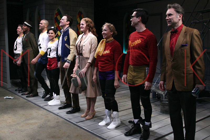 "New York, NY - January 22:  Cast members at ""The Jammer"" Opening Night - Curtain Call at Atlantic Stage 2 on Tuesday, January 22, 2013 in New York, NY.  (Photo by Steve Mack/S.D. Mack Pictures)"