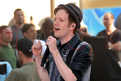 "NEW YORK, NY - JULY 19:  Fall Out Boy performs on NBC's ""Today"" at the NBC's TODAY Show on July 19, 2013 in New York, New York."