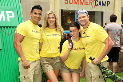 "NEW YORK, NY - JULY 11:  The ""Summer Camp"" competition on NBC's ""Today"" at Rockefeller Plaza on July 11, 2013 in New York City."