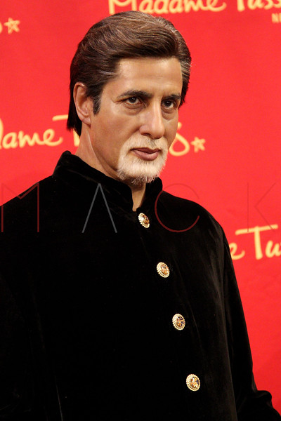 New York, NY - March 07: The wax figure of Amitabh Bachchan at the Bollywood Exhibit Unveiling at Madame Tussauds on Thursday, March 7, 2013 in New York, NY.  (Photo by Steve Mack/S.D. Mack Pictures)