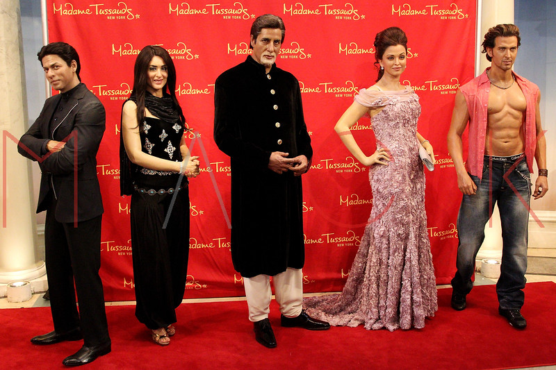 New York, NY - March 07: The wax figures of Shah Rukh Khan, Kareena Kapoor, Amitabh Bachchan, Aishwarya Rai Bachchan and Hrithik Roshan at the Bollywood Exhibit Unveiling at Madame Tussauds on Thursday, March 7, 2013 in New York, NY.  (Photo by Steve Mack/S.D. Mack Pictures)
