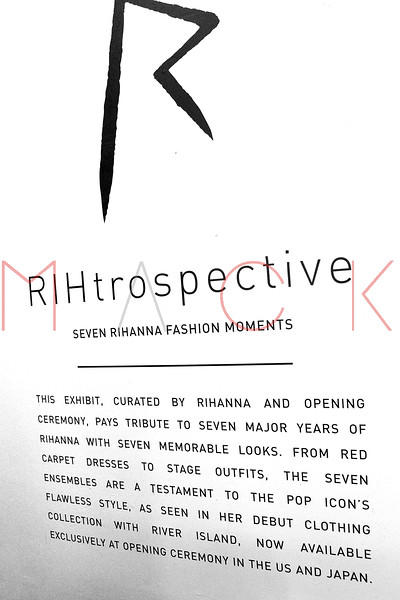 NEW YORK, NY - MARCH 04:  Atmosphere at the RIHtrospective: Seven Rihanna Fashion Moments Private Preview at Opening Ceremony on March 4, 2013 in New York City.  (Photo by Steve Mack/S.D. Mack Pictures)