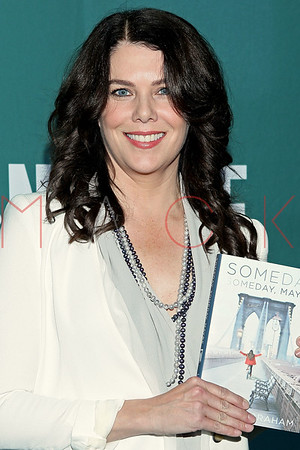 """NEW YORK, NY - MAY 02:  Lauren Graham Signs Copies Of """"Someday, Someday, Maybe"""" at Barnes & Noble Union Square on May 2, 2013 in New York City."""